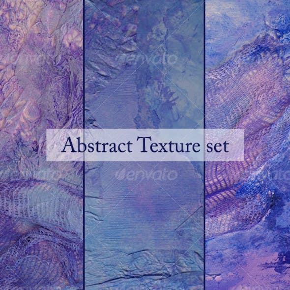 Violet abstract texture set