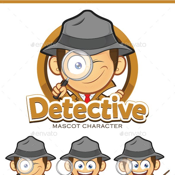 Detective Mascot Character