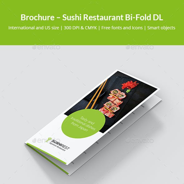 Brochure – Sushi Restaurant Bi-Fold DL