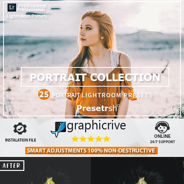 25 Pro Portrait Lightroom Presets