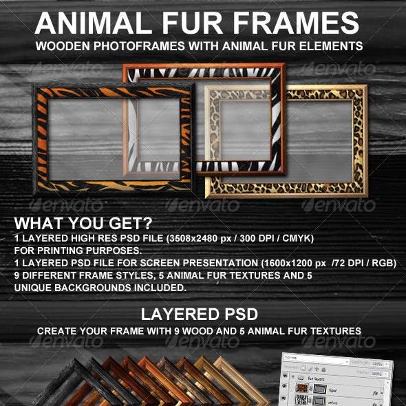 Animal Fur Photoframes