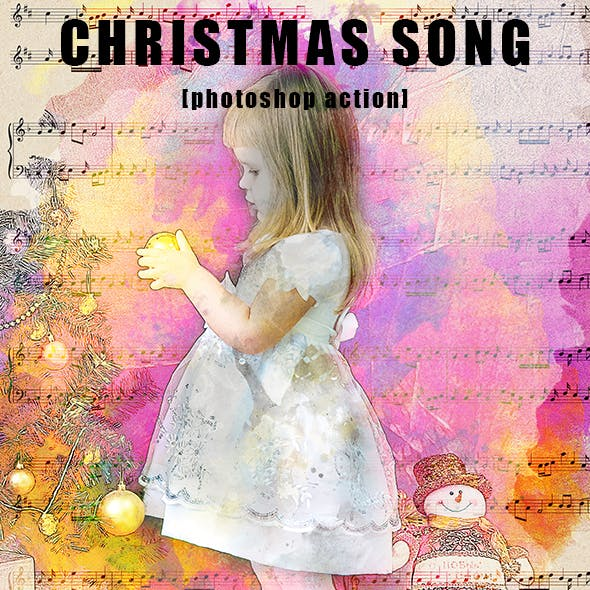 Christmas Song Photoshop Action