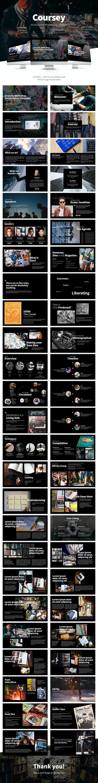 Coursey Multipurpose Google Presentation Slide - Google Slides Presentation Templates
