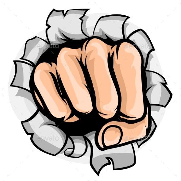 Fist Punching Hole
