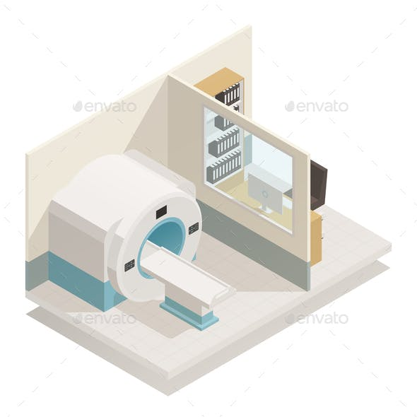 Medical Diagnostic Equipment Isometric Composition