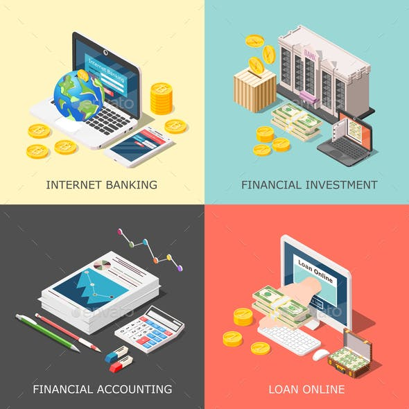 Financial Investment Design Concept