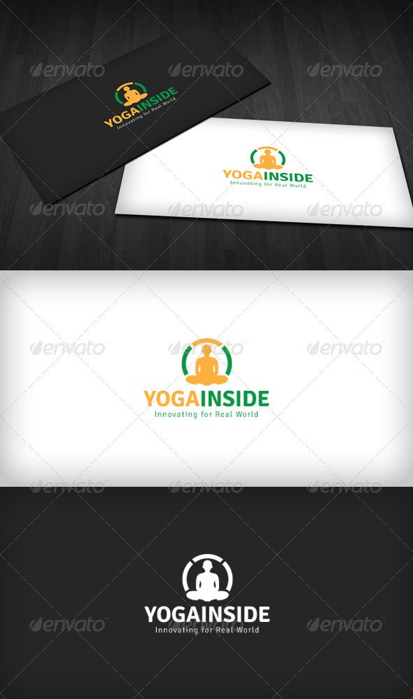 Yoga Inside Logo - Humans Logo Templates
