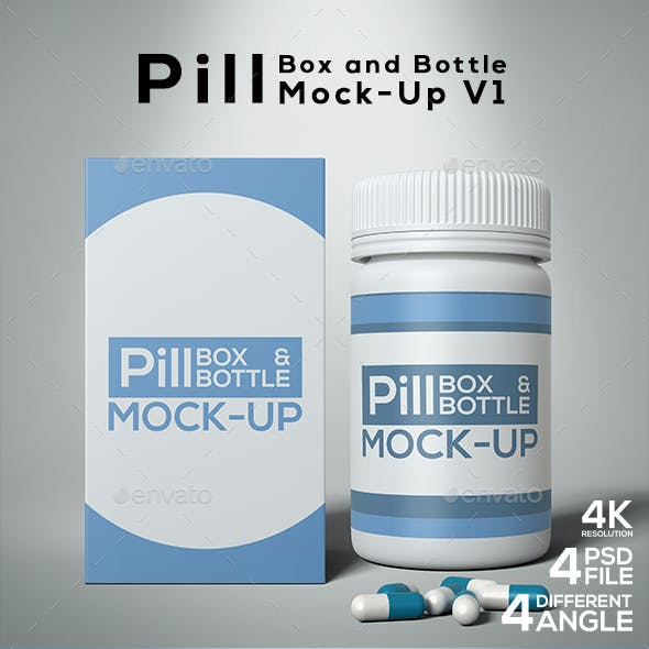 Pill Box and Bottle Mock-Up V1