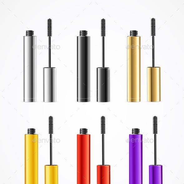 Realistic Color Mascara Brush Set
