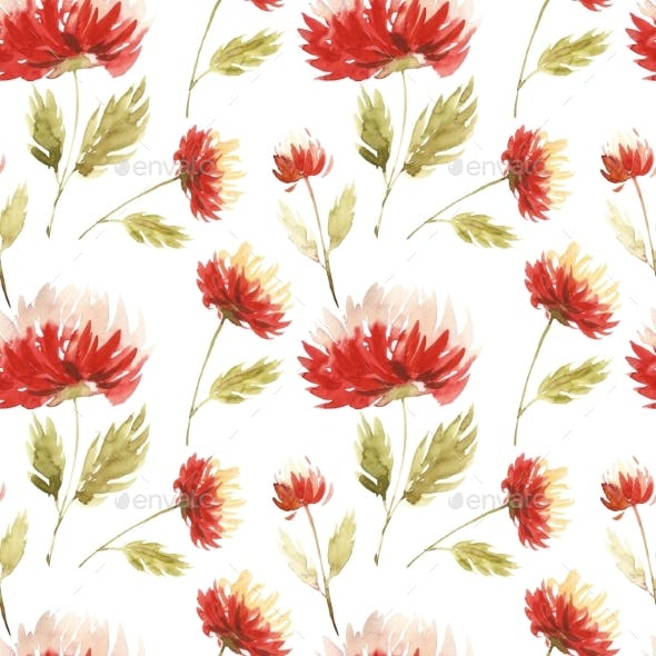 Cute Floral Pattern in the Aster Flower. Motifs