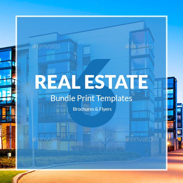 Real Estate – Bundle Print Templates 6 in 1