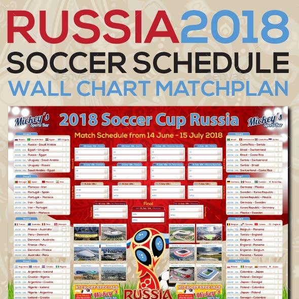 Matchplan 2018 Russia Soccer Poster