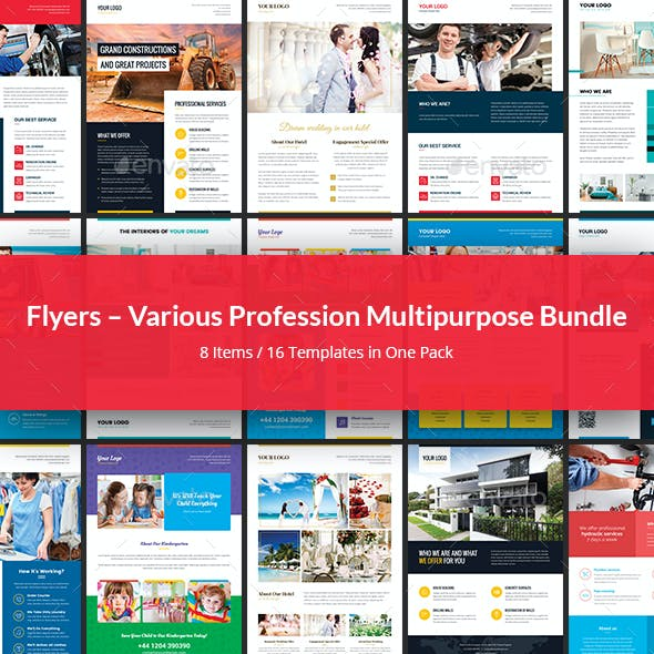Flyers – Various Profession Multipurpose Bundle 8 in 1