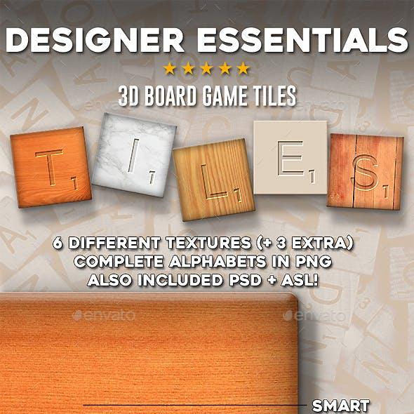 Designer Essentials 3D Board Game Tiles