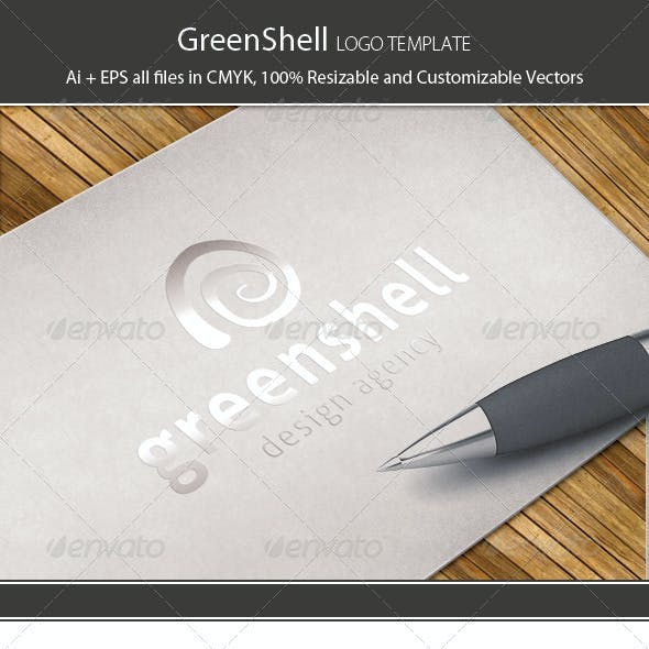 Green Shell Logo Template