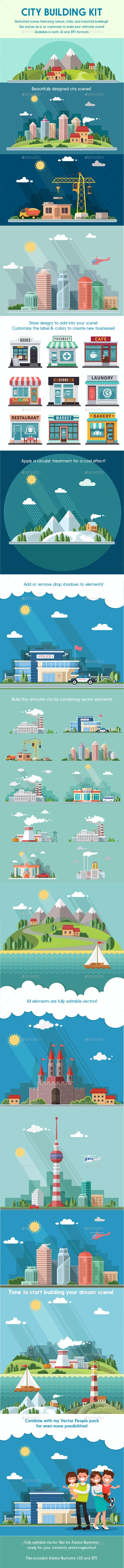 Vector City Building Kit - Buildings Objects