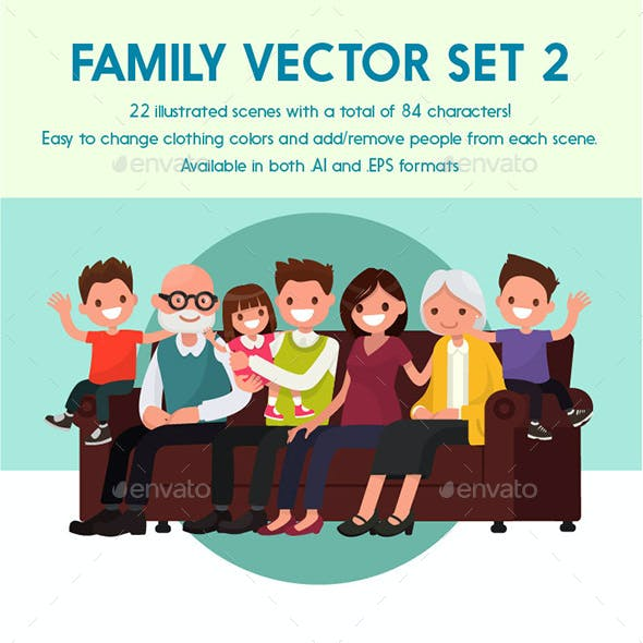 Vector Family 2 Illustration Pack