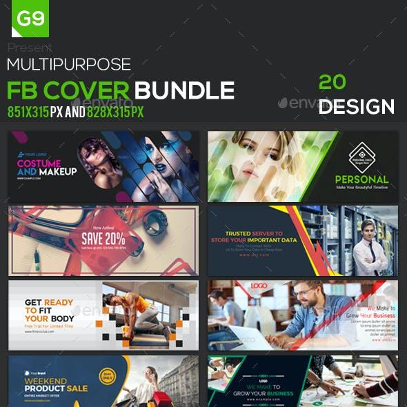 Facebook Cover Bundle - 20 Design