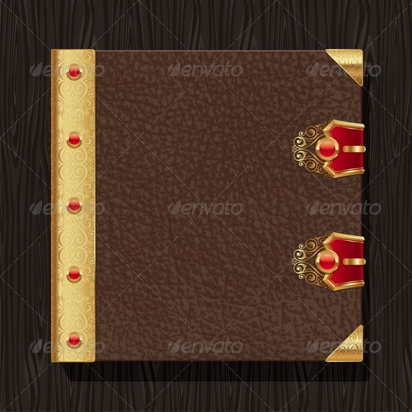Leather Vintage Book Hardcover - Objects Vectors