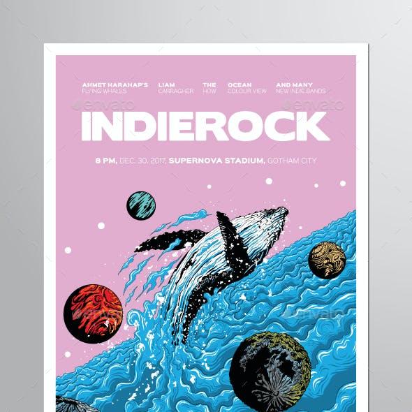 Indie Rock Vol. 7 Flyer Poster