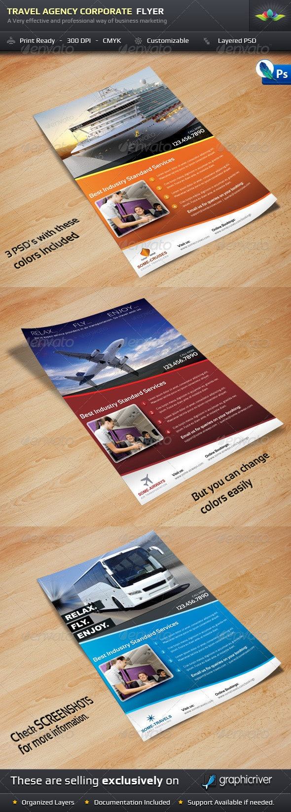 Travel Agency Corporate Flyer - Corporate Flyers