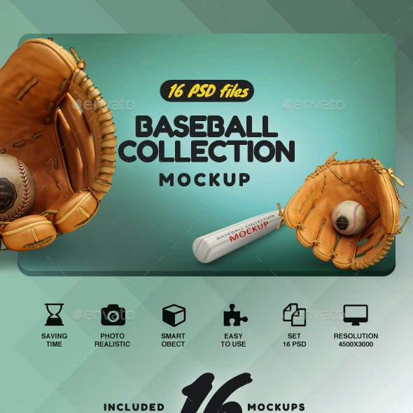 Baseball Set Collection Mockup