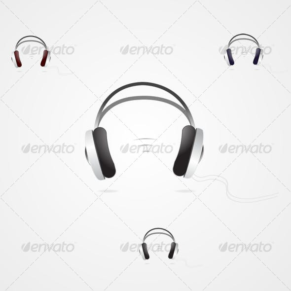 Headphones three colors music