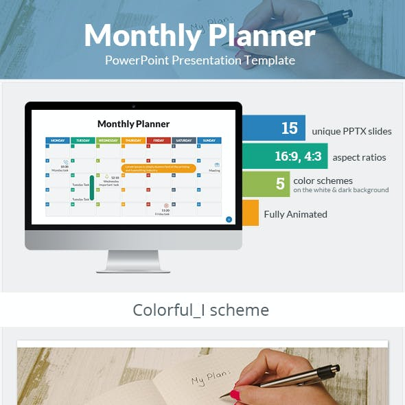 Monthly Planner PowerPoint Presentation Template