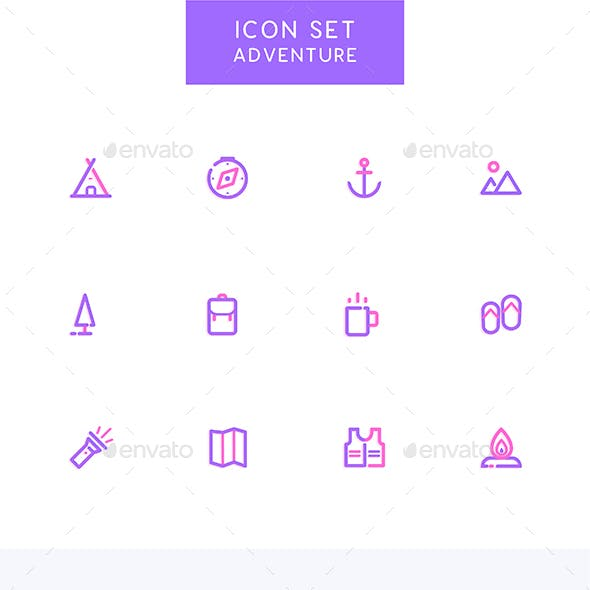 Adventure - Camping Icons Set