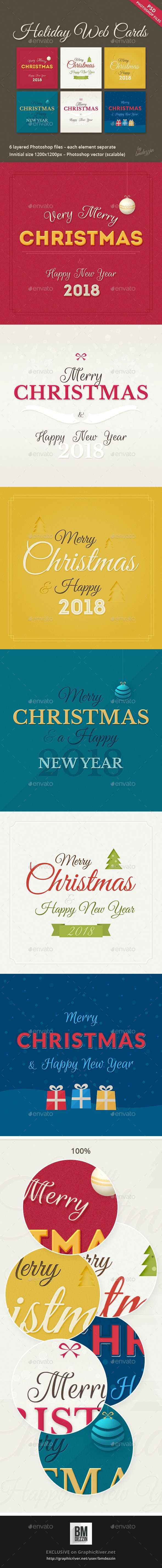 Holiday Web Cards - Banners & Ads Web Elements