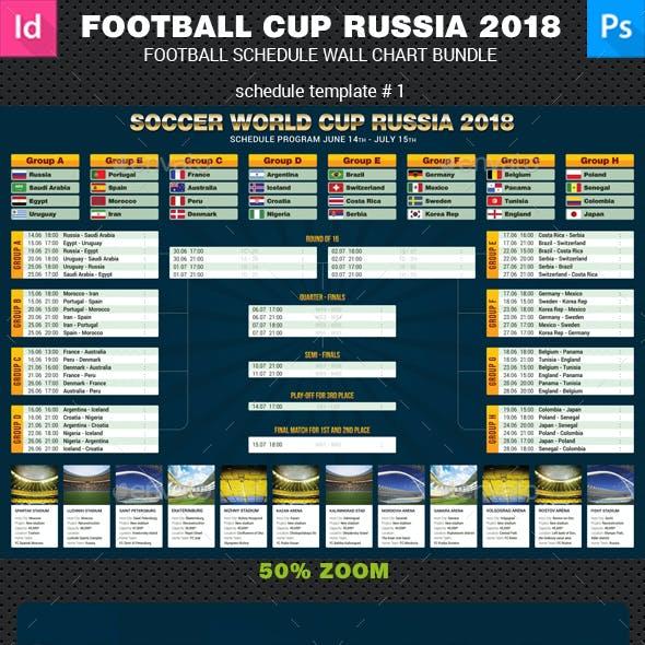World Soccer Cup Russia 2018 Schedule Bundle