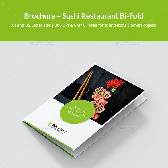 Brochure – Sushi Restaurant Bi-Fold