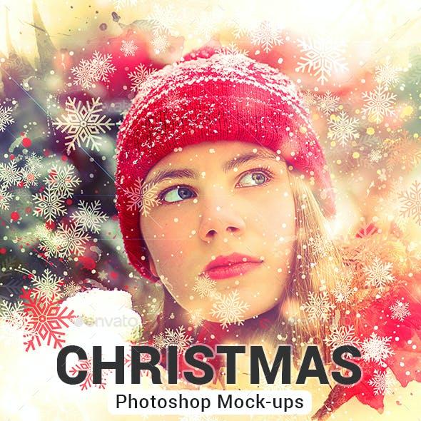 Christmas Photoshop Template Mock-Ups