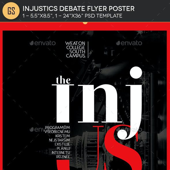 Injustics Debate Flyer Poster Template