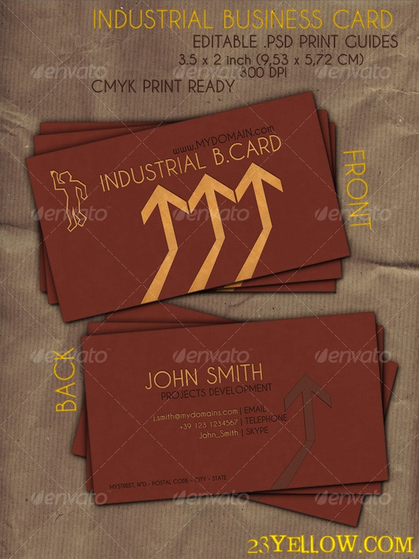 Industrial Business Card - Creative Business Cards