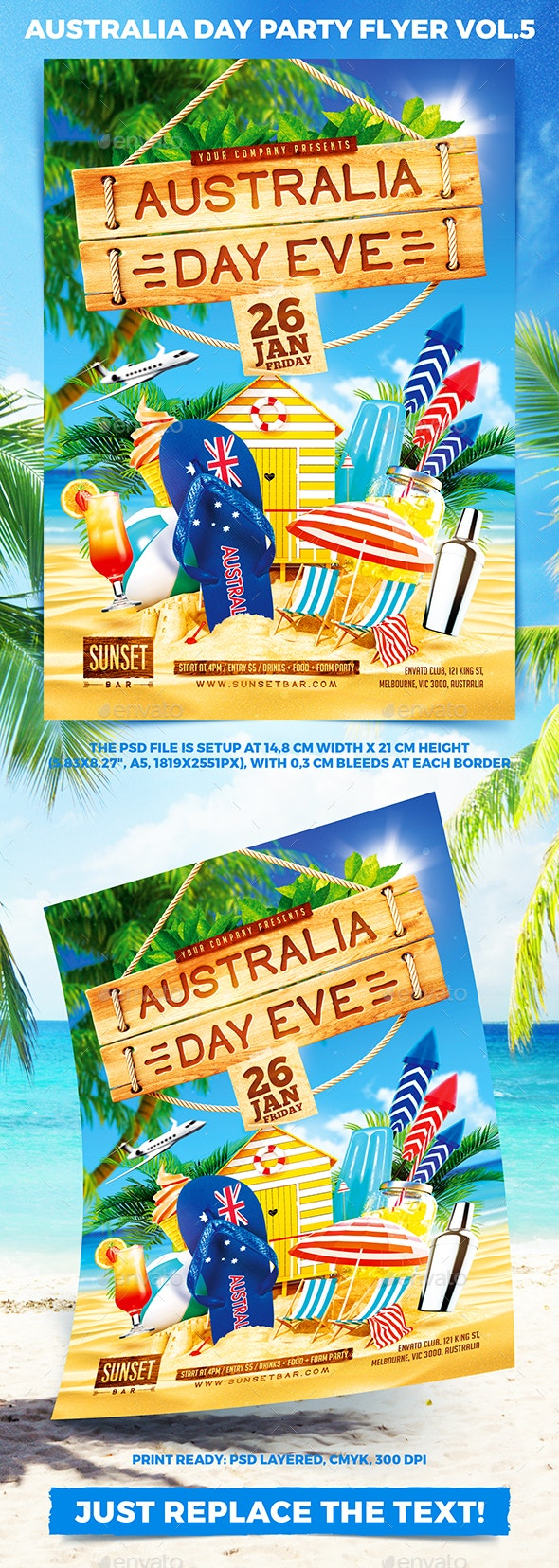 Australia Day Party Flyer vol.5 - Holidays Events