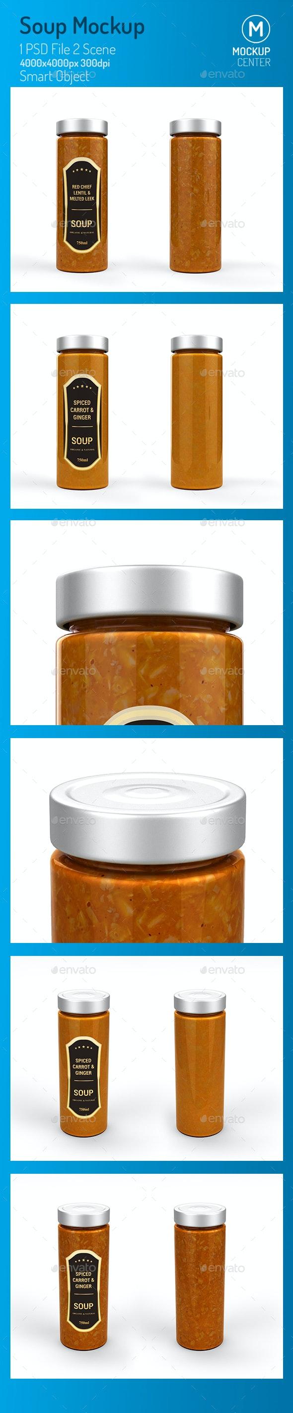 Soup Jar Mockup - Product Mock-Ups Graphics