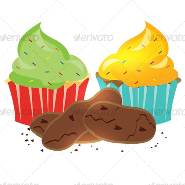 Cupcakes and chocolate chips