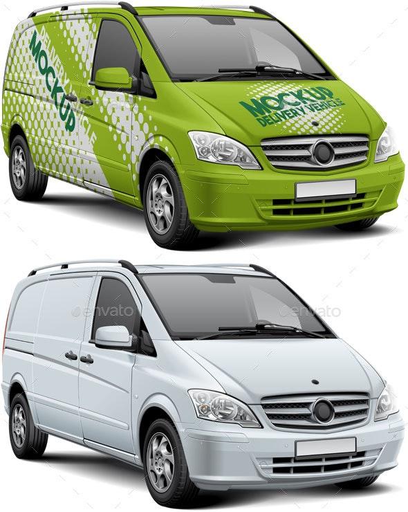 Delivery Vehicle Mockup - Vehicle Wraps Print