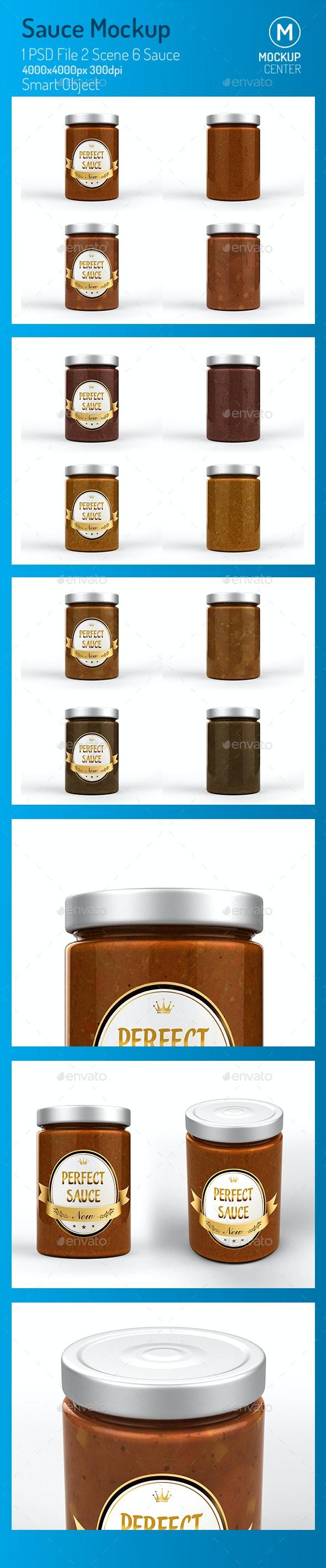Sauce Jar Mockup - Product Mock-Ups Graphics