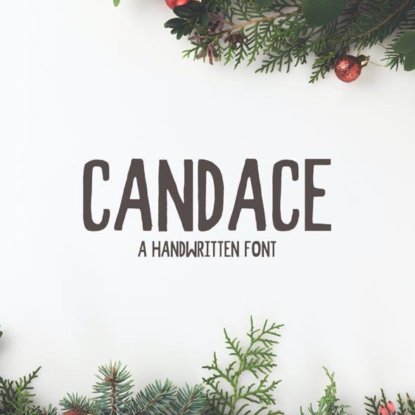 Candace A Handwritten Font