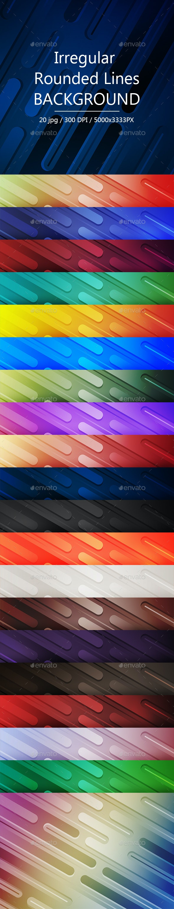 Irregular Rounded Lines Backgrounds - Abstract Backgrounds