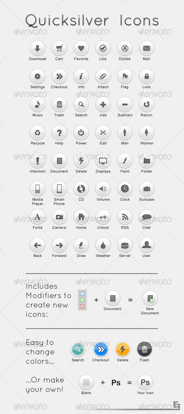 Quicksilver Icons - Web Icons