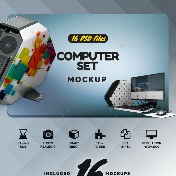 Computer Set App & Skin Mockup