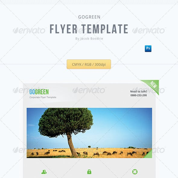 Go Green - A corporate flyer template