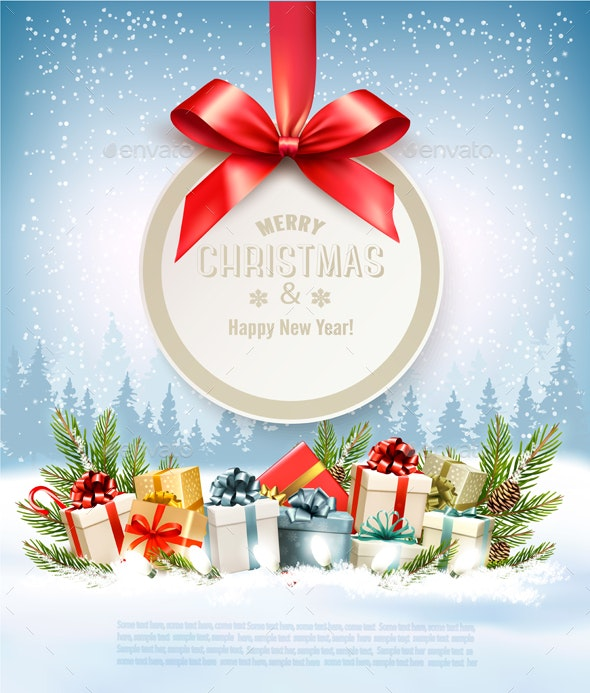 merry christmas banners with tree branches and gift boxes by almoond https graphicriver net item merry christmas banners with tree branches and gift boxes 21155238