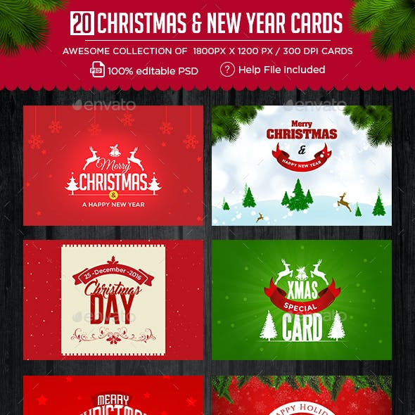 Christmas and New Year Cards - 20 Designs - UPDATED!