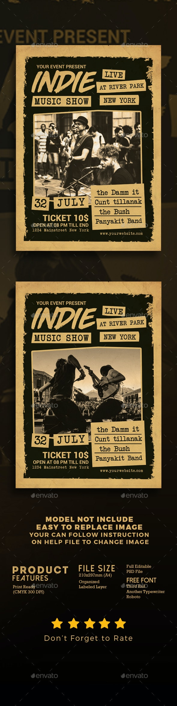 Indie Music Show Flyer - Events Flyers