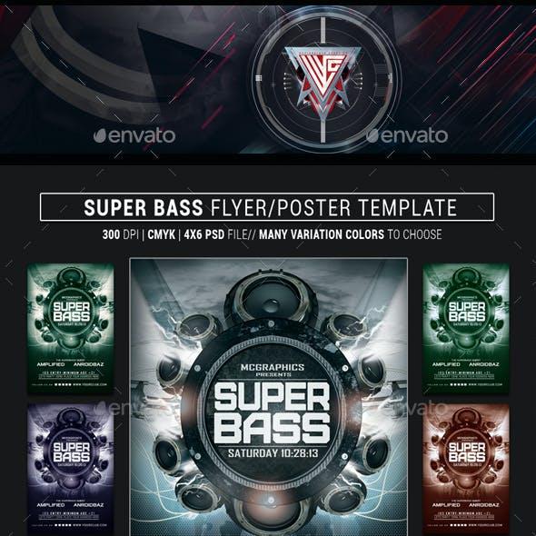 Super Bass Flyer Template