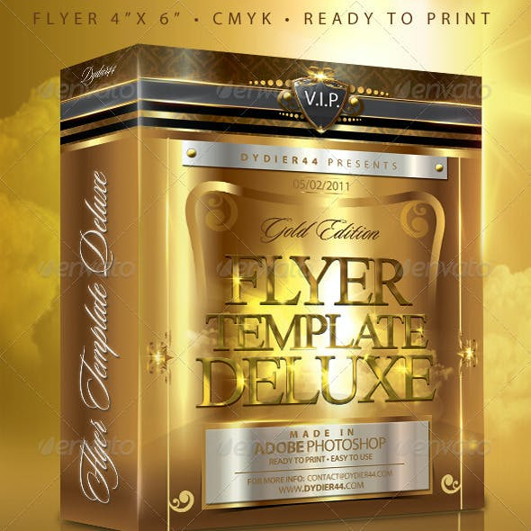 V.I.P Gold Deluxe (Flyer Template 4x6)